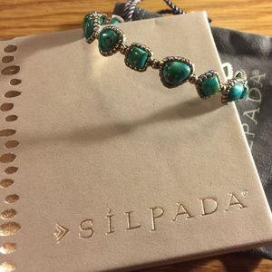 Silpada Turquoise Pools Bangle B3218